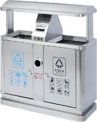 AM-203:ถังขยะสแตนเลสคู่
