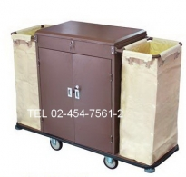 MT-09:รถเข็นแม่บ้านมีกล่อง 2 กล่อง 2 ประตู 